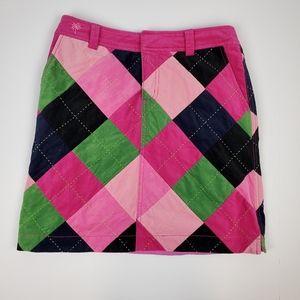 Lily Pulitzer Argyle Micro Corduroy Skirt